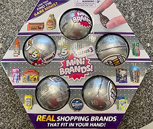 5 Surprise Mini Brands Series 3 - 5 Ball Bundle