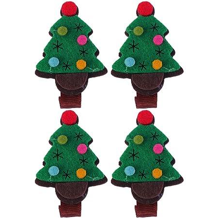1 X 3 INCH CHRISTMAS TREE HAIR SLIDE WITH ALIGATOR CLIP