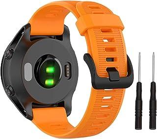 Isabake Banda Garmin 945, 22mm Correa de Reloj para Garmin Fenix 5/5 Plus, Instinct, Forerunner 935/945, MARQ, Approach S60, Quatix 5 (Orange)