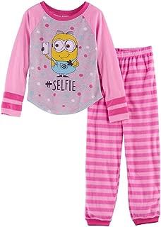 Despicable Me Minions#Selfie Top & Fleece Bottoms Pajama Set, Size 6