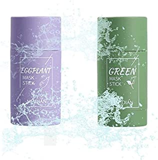 2pcs Green Tea Purifying Clay Stick Mask,Green Tea Face Peel Mask Blackhead Remover Acne Deep Cleansing,Improves Texture o...