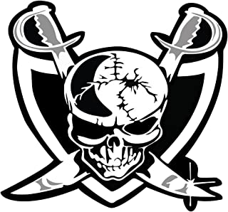 Raider Nation Skull OriginalStickers0659 Set Of Two (2x) Stickers , Laptop , Ipad , Car , Truck , Size 4 inches on Longer Side
