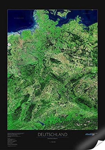 Satellitenbildkarte Deutschland, Planokarte
