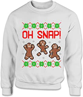 Oh Snap Funny Gingerbread Man Ugly Christmas Sweater Funny Christmas Cookies Xmas Baking Shirts FAT-568