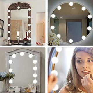 K KBAYBO Vanity Mirror Lights, Hollywood Style USB Powered Makeup Mirror LED Lights with 10 Dimmable Light Bulbs Flexible ...