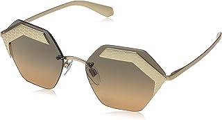 Bvlgari Octagon Sunglasses For Women, Brown - BV6103 20131857