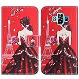 TienJueShi Traumfrau Flip Book-Style Brief Leder Tasche