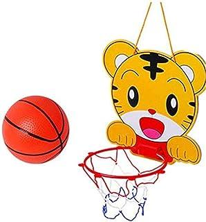 SKEIDO Indoor Hanging Basketball Cartoon tiger Netball Hoop Basketball Box Mini Basketball Board For Office Game Children ...