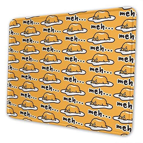 Mouse Pad Gudetama Cute Gaming Mousepad with Stitched Edges Non-Slip Rubber Base for Computers Laptop Office & Home