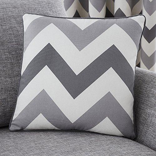 Fusion - Chevron - 100% Cotton Filled Cushion - 43x43 cm in G