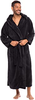 Alexander Del Rossa Men's Warm Flannel Fleece Robe with Hood, Big and Tall Bathrobe