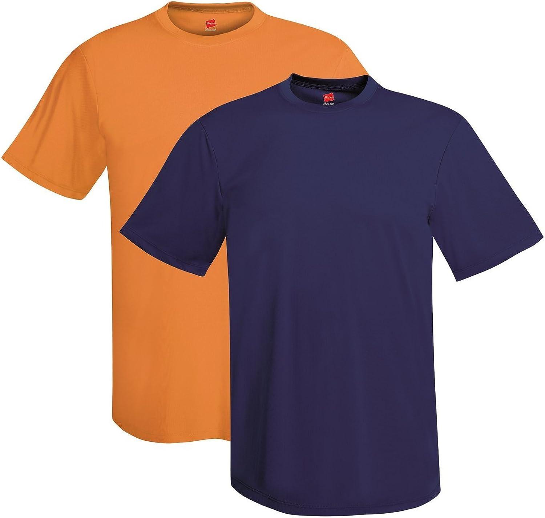 Hanes Men's Short Sleeve Cool DRI T-Shirt UPF 50+, SH NY, XX-Large (Pack of 2)