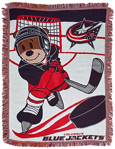 NHL Columbus Blue Jackets Baby Woven Jacquard Throw Blanket, 36