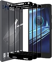 [Paquete de 3] LK para el protector de pantalla Moto Droid Turbo 2, [Cubierta completa] Vidrio templado con garantía de reemplazo de por vida (Negro)