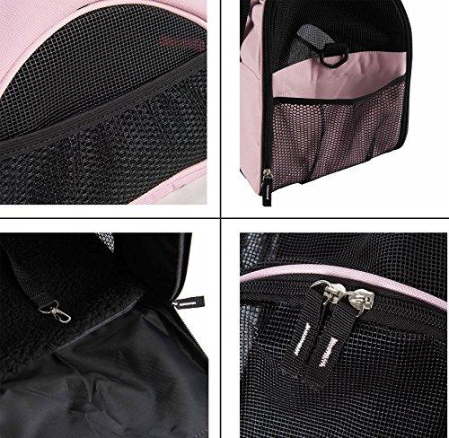 BabycarePro Tragetaschen für Haustiere, für kleine Hunde und Katzen, mit weichem Sitzkissen, autorisiert durch Fluggesellschaft.