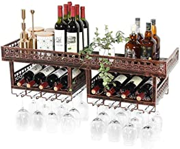 HTTJJ Stemware and Wine Bottle Stand for Wall mounting/Glass Bottle Holder Rack/Wine Rack Wall Mounted Wine Bottle Holder/...