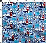 Segelboot, Maritim, Ozean, Wal, Fisch, Leuchtturm, Sommer