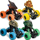 Dinosaur Toys for 2-7 Year Old Boys 4 Pack Dinosaur Toys Pull Back Cars for 2-4 Year Old Boys Kids Toys Christmas Birthday Gifts for 2 3 4 5 6 7 Year Old Boys