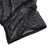 YiZYiF Herren Unterhemd Netzhemd Netzshirt Kurzarm Transparent Funktionsshirt M L XL (M, Schwarz) - 5