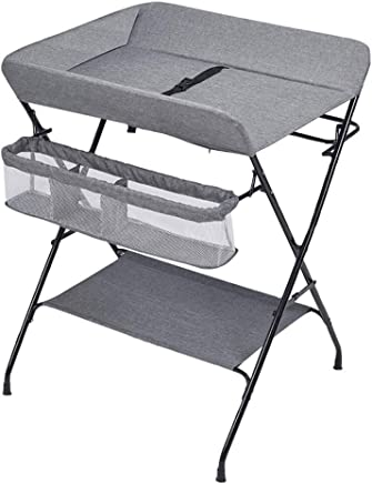 AFDK Gray Changing Diaper Table Folding  Care Station for Small Space  Toddler 0-3 Years Old