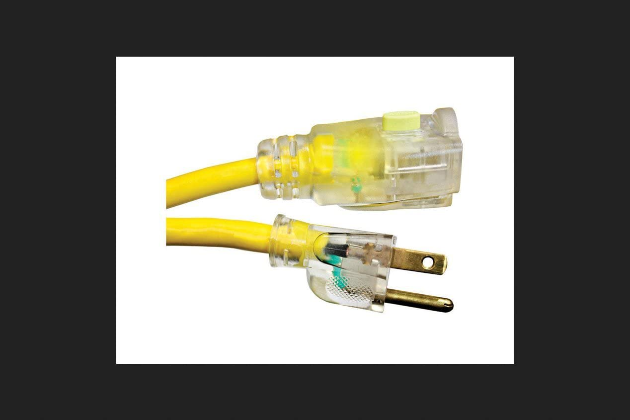 Monster Cable Extension San Max 77% OFF Francisco Mall Cord 14 3 25 Yellow Sjtw ' Ul L
