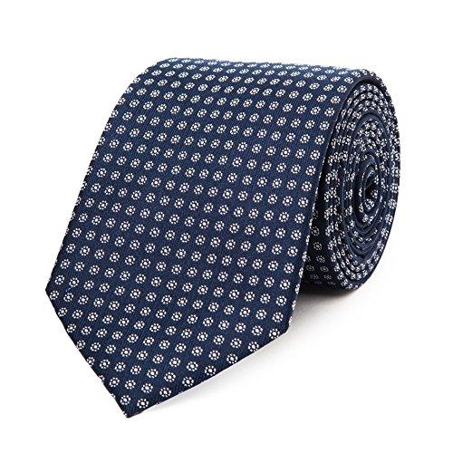 Bruce Field - Cravate en pure soie à micro fleurs 8 boutons