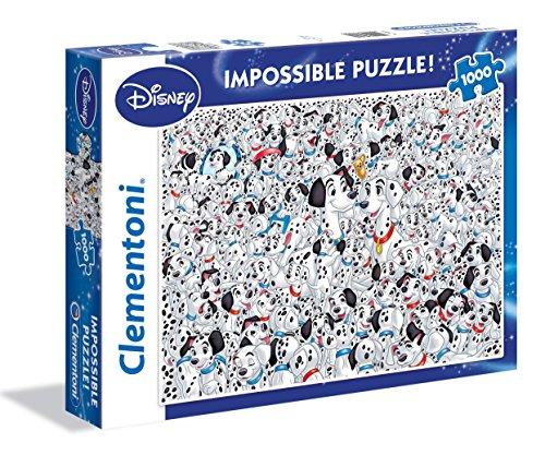 Clementoni-101 Dalmatians Altro Impossible Puzzle, 1000 Pezzi, 39358