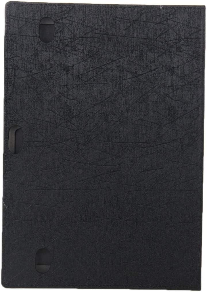 JIANGNIUS Tablet Accessories Oracle Texture Magnetic Leather Case with Three-Folding Holder for Huawei MediaPad 10 Link S10-201 Color : Black Black