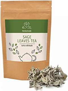 100% Pure Sage Officinalis (Salvia officinalis) dried leaves Natural Wildcrafted Herbal Tea (Loose) 3 oz / 90gr by Teliaoi...