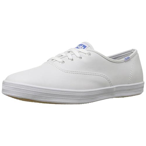 0ce4d7fdaa73 White Leather Tennis Shoes  Amazon.com