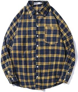 MASVIS シャツ メンズ 長袖 チェックシャツ 春秋服 チェック柄 ネルシャツ 綿 カジュアル おしゃれ 大きいサイズ 折り襟 フィット エレガント 10色 トップス