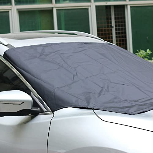 SUV /& SEDAN Windshield Snow Cover CHTAGS Snow Protector 84 x 59 *49 with Mirror Cover Winter Summer Auto Shade