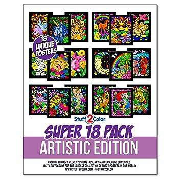 velvet art coloring posters