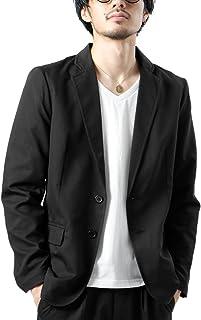 ZIP FIVE テーラードジャケット メンズ ジャケット ライトアウター ブレザー 長袖 ストレッチ 無地 スーツ地 ファッション zp041435