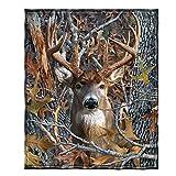 Dawhud Direct Fleece Throw Blanket (Camo Buck Deer)