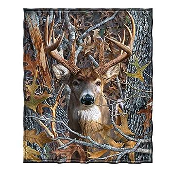 Dawhud Direct Fleece Throw Blanket  Camo Buck Deer