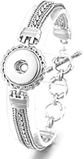 Vocheng 18mm Snap Button Jewelry Antique Chain Interchangeable Bracelet,Women Gift, ANN-450