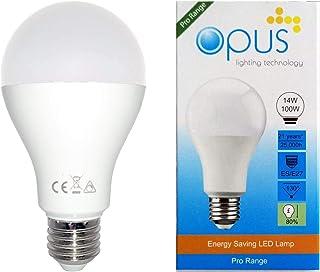 Opus Lighting Technology LED GLS Light Bulb, 14 W, Daylight