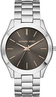 Michael Kors Men's Slim Runway Quartz Stainless-Steel Strap, Silver, 22 Casual Watch (Model: MK8624)