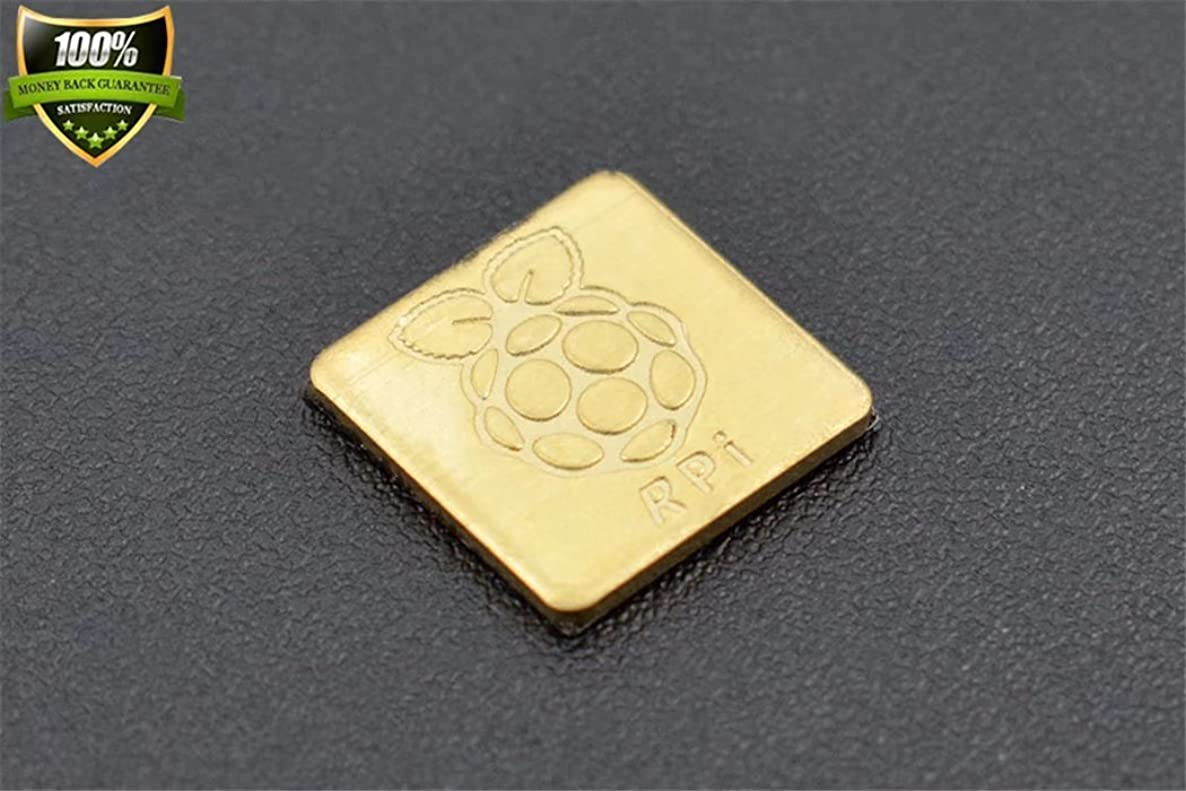 DFROBOT Raspberry Pi Pure Copper Heatsink The Surface Of The Raspberry Pie Logo Is Fine And Beautiful To Keep Your Chip Cool?
