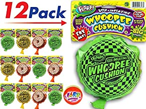 2CHILL Whoopee Cushion Self Inflating Flarp Original (Pack of 12) by JA-RU Kids and Adult Fart Toy | Prank Self-Inflating. Whoopie Makes Gas Sounds JA-RU | Item #327-12p