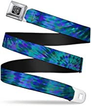 Buckle-Down Seatbelt Belt - Tie Dye Green/Blue/Purple - 1.5