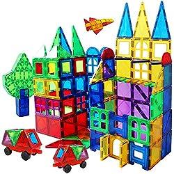 in budget affordable Magnet Building Tile 130 3D Toy Magnet Magnetic Block Set Kindergarten Toy Gift 3 4 5…