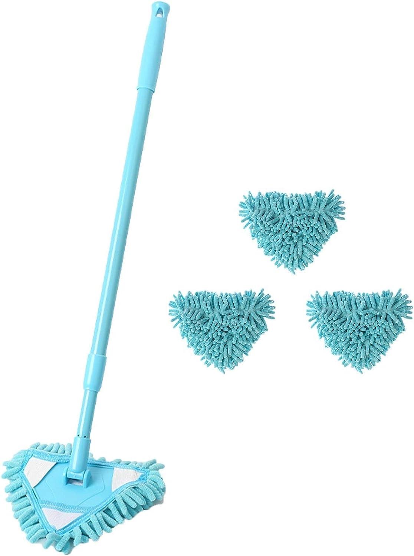 WKDZ Blue Triangle New Orleans Mall Wiper extendable Microfiber Telescopic Fees free mop