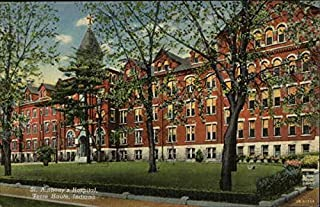 St Anthony's Hospital Terre Haute, Indiana Original Vintage Postcard