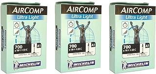 Michelin Aircomp A1 Ultralight 700 x 18-23c Presta 52mm Valve (Pack of 3 Tubes)