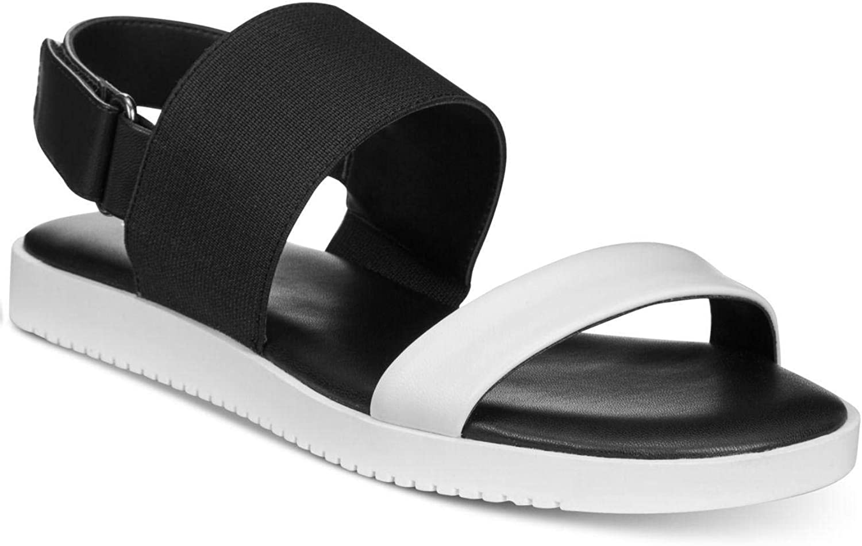 Alfani Womens Shaee Open Toe Casual Slingback, Black White Multi, Size 9.0