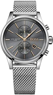 HUGO BOSS BLACK MEN'S GREY DIAL STAINLESS STEEL WATCH - 1513440