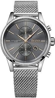 Hugo Boss Men's Chronograph Quartz Watch With Stainless Steel Bracelet - 1513440, Analog Display