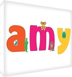 Feel Good Art Loisirs souvenir de bébé polis avec motif losanges et personnalisable avec nom de fille 10,5 x 15 x 2 cm Tai...